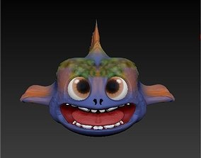 3D model Cute funny cartoon fish OBJ