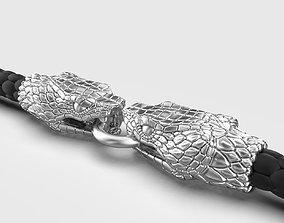 3D print model End pieces for bracelets Snake 3 mm