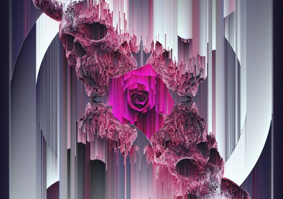PINK ROSE GLITCHED