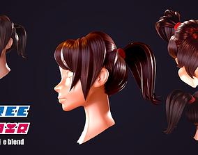 3D asset low-poly Free Hair
