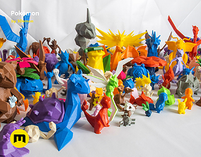 3D asset Low poly Pokemon Collection