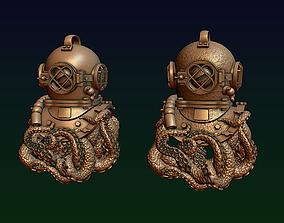 3D printable model Diving helmet with octopus tentacles