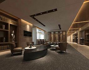 office reception hall design complete 11 3D