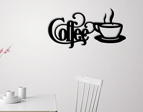 Coffee sign wall decoration 3D printable model