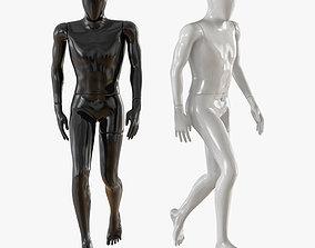 Faceless walking mannequin 12 3D