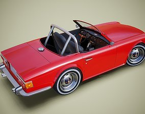 Gameready british retro sports car 3D asset