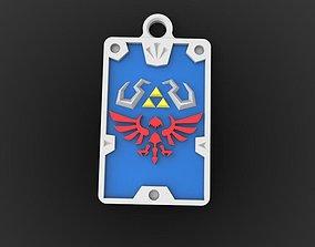 3D print model Zelda hyrule keychain 3