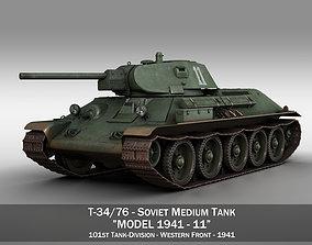 3D T-34-76 - Model 1941 -Soviet medium tank - 11