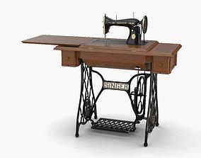 3D retro Singer Sewing Machine