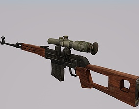 3D model Dragunov VR AR Ready For Game