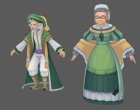 3D model realtime Europe Fatansy Old couple
