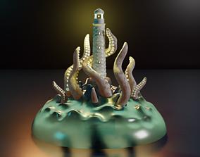 kraken lighthouse 3D print model