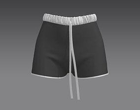 Girl sports shorts 3D