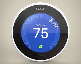 3D Nest Learning Thermostat