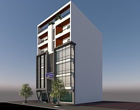 Office and RESIDENTIAL BUILDING 3D