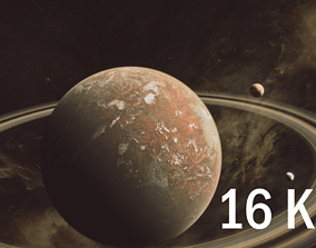16K Photorealistic Desert Planet 3D model planet