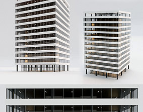 Office building 3D model game-ready business