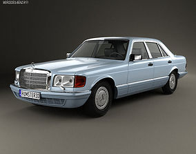 3D model Mercedes-Benz S-Class W126 1979