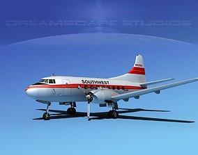 3D model Martin 202 Southwest Airways