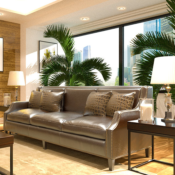 Interior Design Furniture Materials Lights Rendering VrayNext 3DSMAX