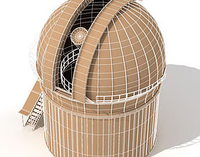 telescope astronomy 3D model