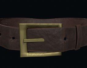 Low poly leather belt 3D asset