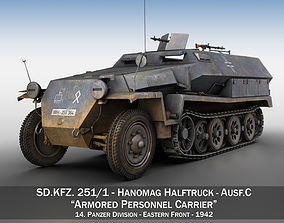 SD KFZ 251 1 - Ausf C - Half-track - 14PD 3D model