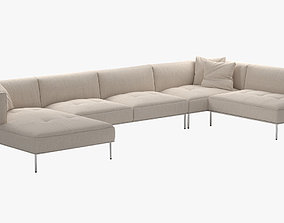 Living Divani ROD Sectional Sofa 3D model