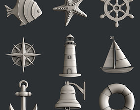 3d STL models for CNC sea set