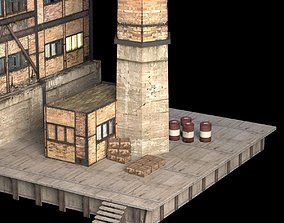3D Abandoned Factory Building 149