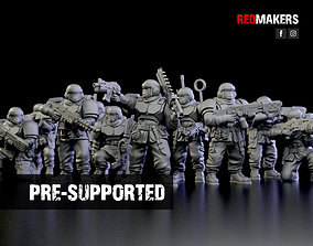 3D printable model Alpha troops - Squad of the Imperial 1
