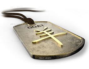 Goat Chinese Zodiac Pendant design 3D printable model