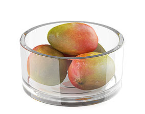 Bowl of mango fruits 3D model