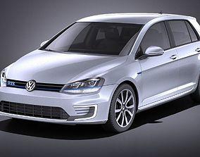 Volkswagen Golf GTE 2015 VRAY 3D