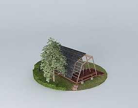 residential-building 3D Small vacation hut