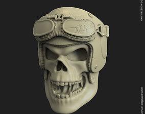 3D print model Biker helmet skull vol4 ring organic