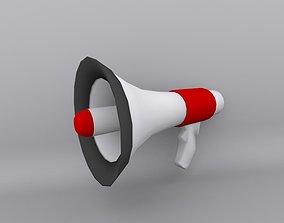 3D asset Cartoon Megaphone