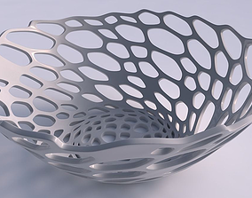 3D print model Bowl wide with cracked organic lattice