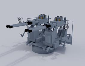 40mm Quad Anti-Aircraft Gun 3D model