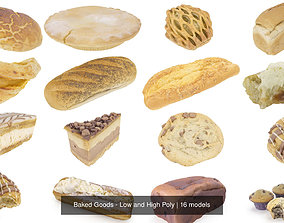 Baked Goods - Low and High Poly baking 3D model