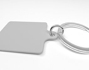 Keychain 3D model low-poly
