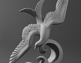 Bird sculpture scanned 3D model