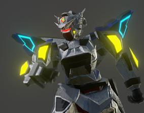 GN-001 Gundam Prototype Rigged 3D model