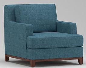 3D model Light Blue Armchair