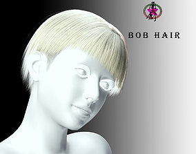 Business Hairstyles - Bob with Side Swept 3D model
