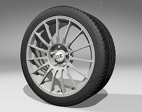 OZ Superturismo Alloy Wheel with PZERO Tire 3D model