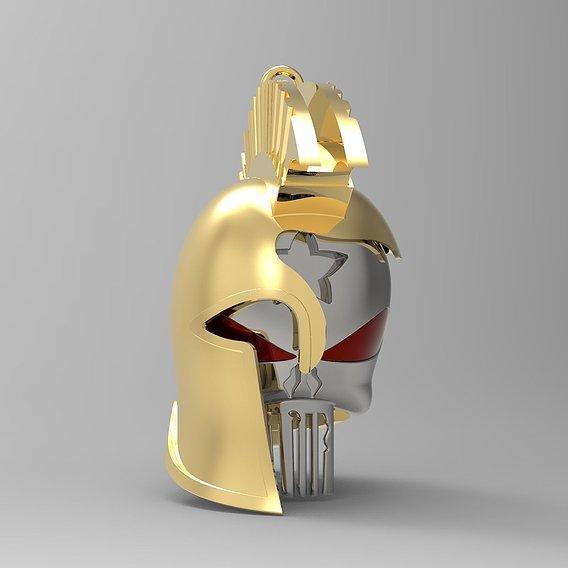 Spartan Helmet Punisher Skull