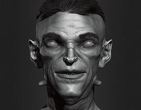 Creature bust HighPoly 3D model fi