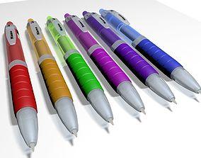 office Set of Ballpoint Pen 3d for branding
