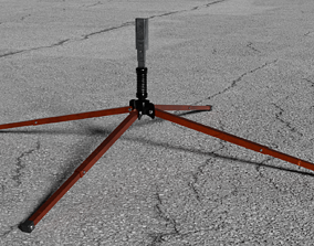 Safety Sign Stand 3D model